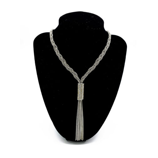 1- Silver Glamour - soulessenceusa.com - Silver Necklace with Swarowsky Crystals